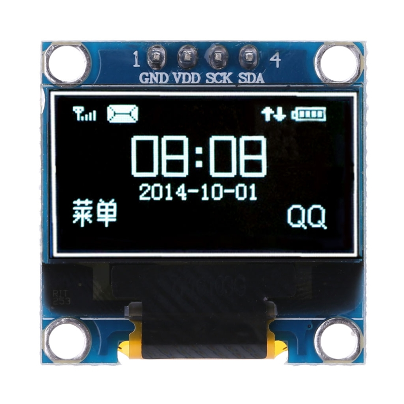 OOTDTY 0.98 inch OLED Module White Color 128X64 LCD Display IIC Module DIY For Arduino