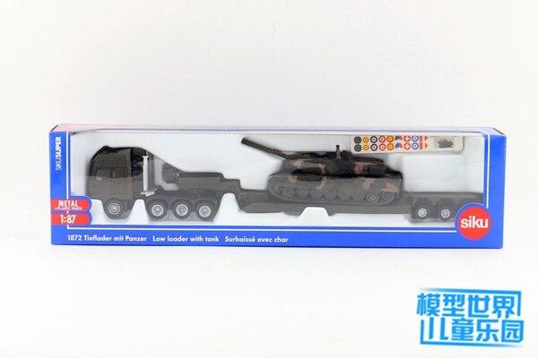 1:87 escala homem plataforma caminhão com tanque