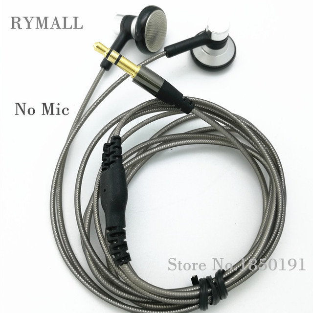 RY04 original in-ear Earphone metal manufacturer 15mm music quality sound HIFI Earphone (ie800 style), 3.5mm, New weaving cable