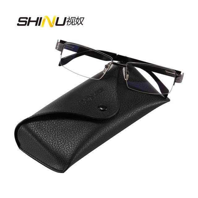Designer de marca liga de metal óculos metade aro da armação óptica para homens estilo de alta qualidade óculos de grau pequeno CF007