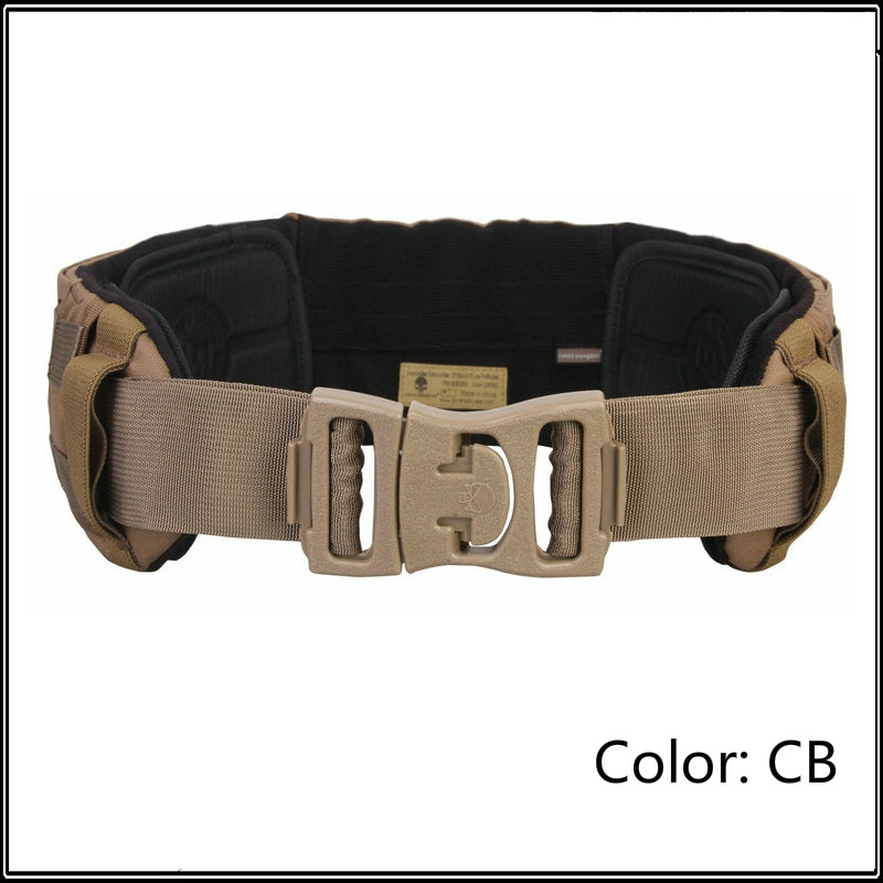 Military CP Style AVS Low Profile Belt Tactical Hunting Padded Molle Waist Belt Waistband 500D Nylon Multicam Free Shipping