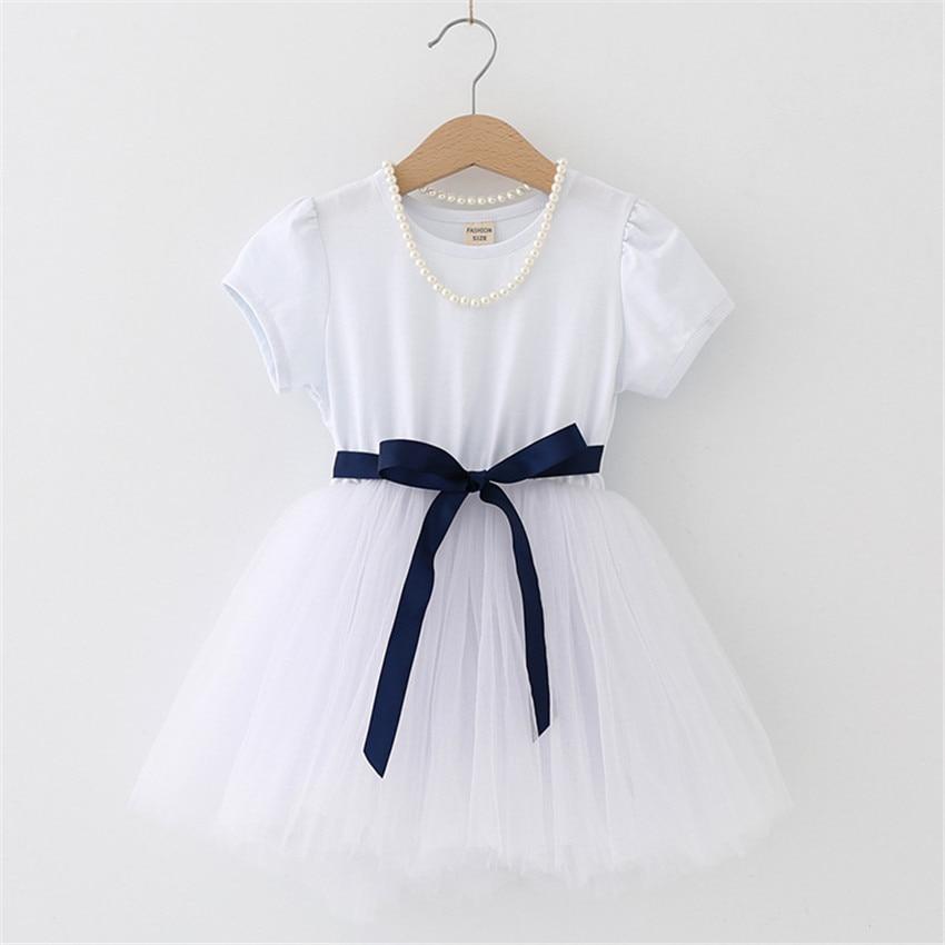 2-8 letnia letnia sukienka dla dziewczynki dzieci księżniczka - Ubrania dziecięce - Zdjęcie 2
