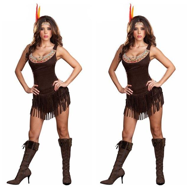 Halloween costume ideas Sexy Pocahontas Costume Funny aborigines Costume  sc 1 st  AliExpress.com & Halloween costume ideas Sexy Pocahontas Costume Funny aborigines ...