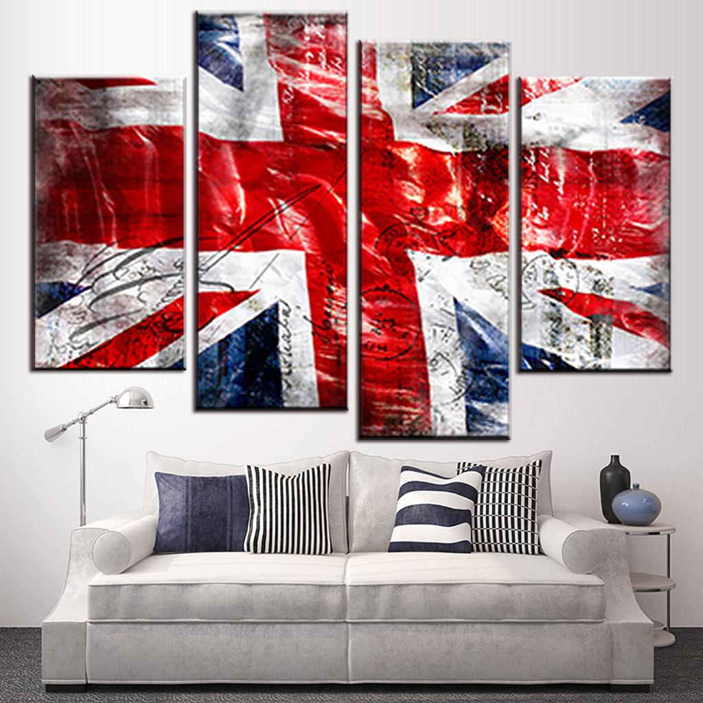 Various Sizes UNION JACK Canvas Wall Art Framed Print