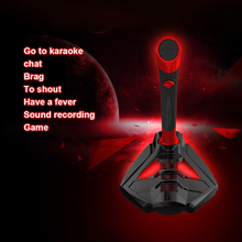 TENZERO Microphone USB Studio Gaming 360 Omnidirectionnel PC for Computer Desktop Professional Dual Mic LED