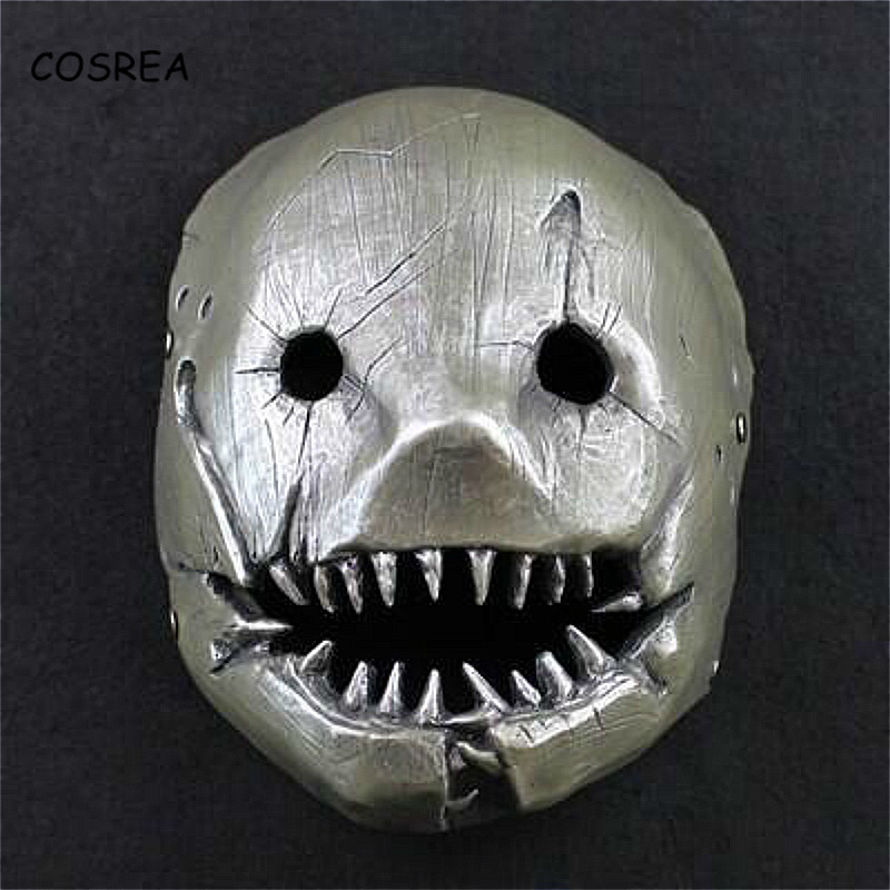 Cosrea Resin Game Dead By Daylight Mask for The Trapper Cosplay Evan Macmillan Cosplay Props Halloween Accessories for Adults