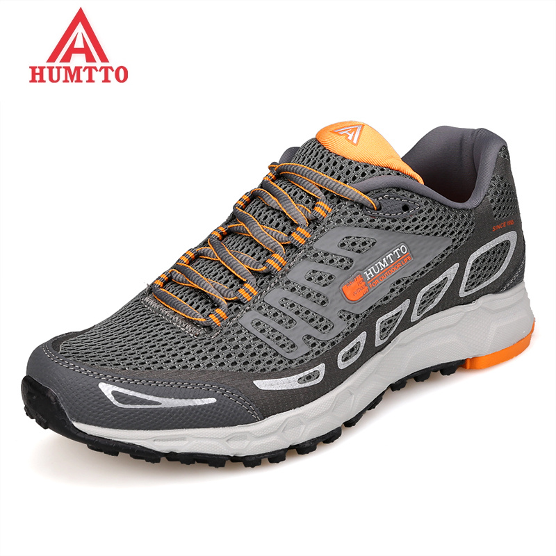 HUMTTO Professional Marathon Running Shoes for Men Mesh Breathable Outdoor Man Sneakers Lace up Light Cushioning
