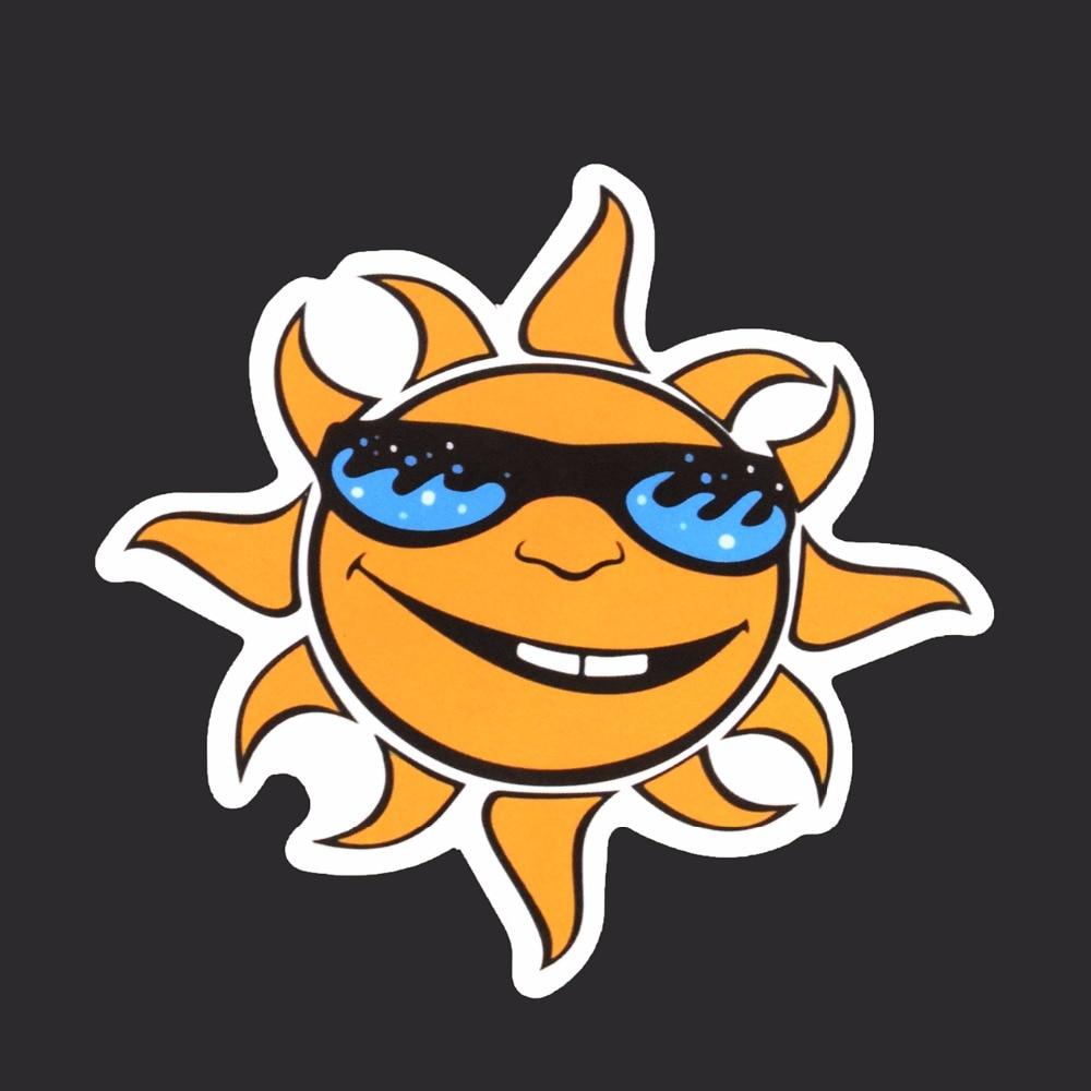 Cartoon Sun Labels Stickers Single Tide Brand Sticker Fashion Funny ...
