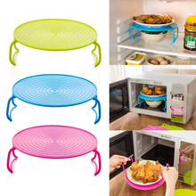 Multi Functional Microwave Oven Heating Layered Steaming Tray Double Layer Rack Bowls Holder Organizer Tool Kitchen Accessories(China)