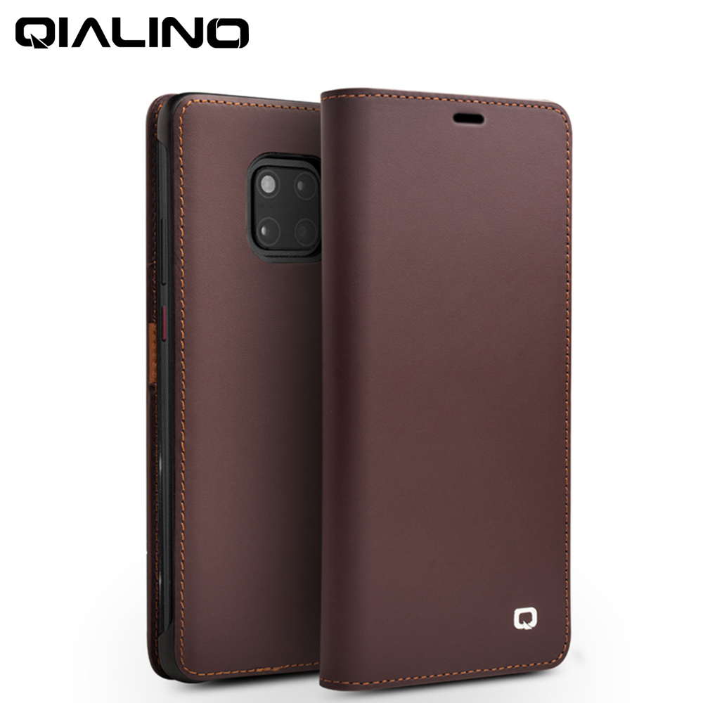 QIALINO Luxury Genuine Leather Phone Cover for Huawei Mate 20 Stylish Handmade Flip Case with Card Slots for Mate 20 ProQIALINO Luxury Genuine Leather Phone Cover for Huawei Mate 20 Stylish Handmade Flip Case with Card Slots for Mate 20 Pro
