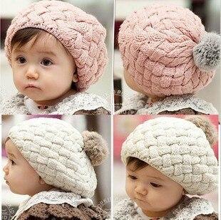 Mode belle Automne hiver bébé filles de fourrure de lapin casquette enfants  enfants chapeau béret livraison gratuite 1 pcs de mélange 9eda477441c