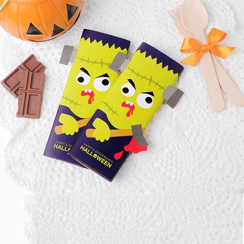 Best price 100pcs color halloween creative small greeting card 100pcs color halloween creative small greeting card chocolate packaging decorative card m4hsunfo