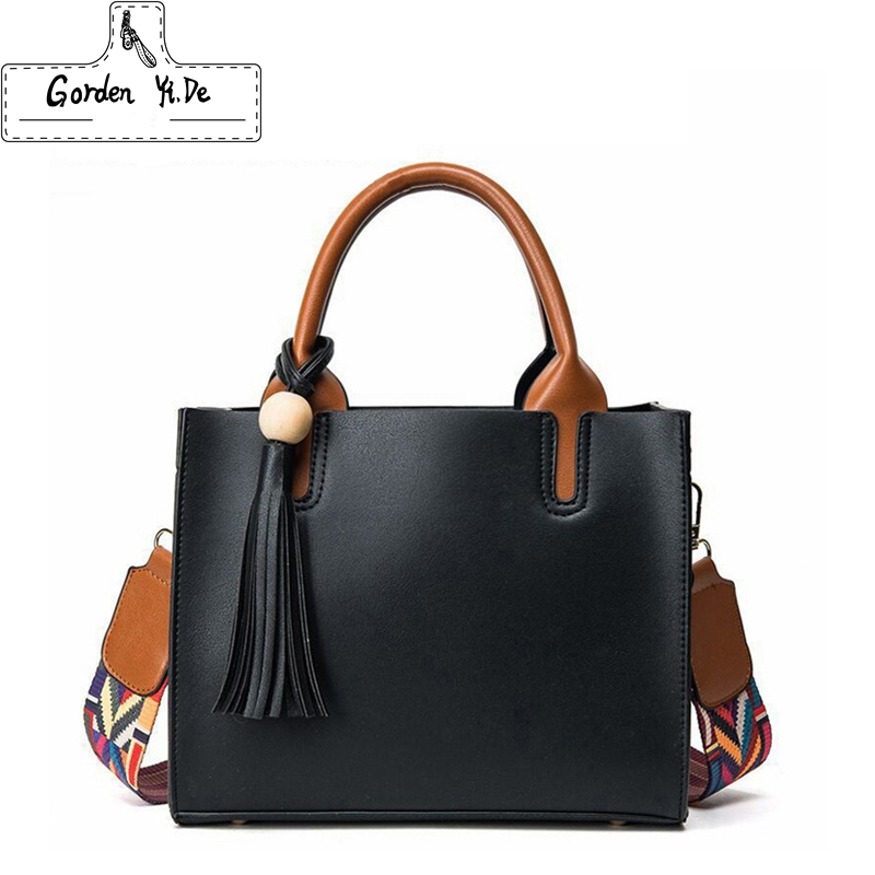 Leather Colored Bags Handbags Women Famous Brands Big Casual Women Bag Trunk Tote Spanish Shoulder Bag Ladies large Bolsos Mujer real leather bags handbags women s famous brands bolsa feminina big casual women bag female tote shoulder bag ladies large black
