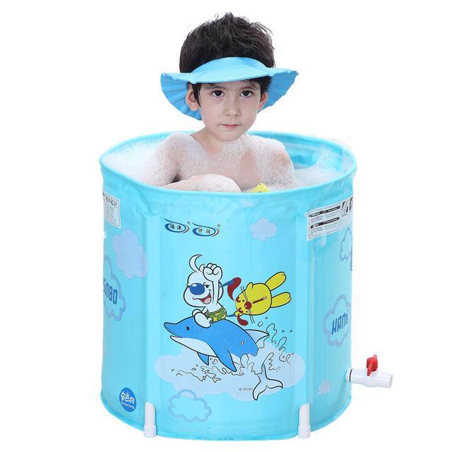 Más grueso Versión Deluxe Edition Cubeta Del Baño Del Bebé Baño Del Bebé Bañera Inflable Piscina Juego Para Niños 0-12 años de edad