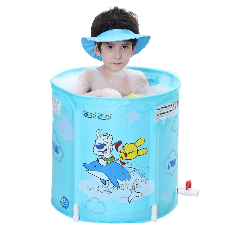 Thicker Version Deluxe Edition Inflatable Baby Bath Bucket  Baby Bath Tub  Play  Pool For Children 0-12 years old thicker deluxe high quality children baby swimming pool large inflatable swimming pool water playing pool c01