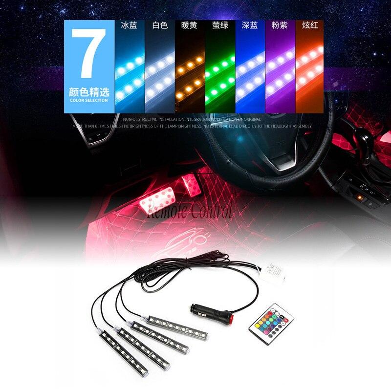 1set Car RGB LED Neon Interior Light Lamp Decorative Atmosphere Lights for BMW E36 E39 E46 E34 E53 E90 E60 E30 E70 F30 F10 F15