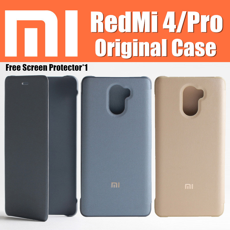 100 original xiaomi redmi 4 pro case flip cover funda Snapdragon 625 430 5 for xiaomi