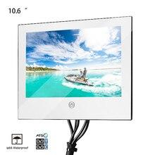 Souria 10.6 inch Mirror Glass USB TV Bathroom IP66 Waterproof LED