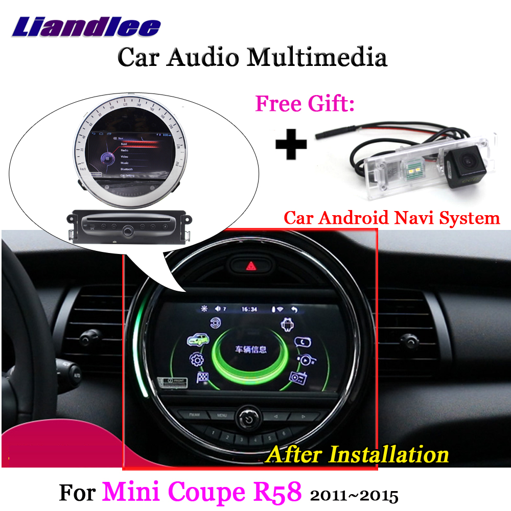 цена Liandlee For BMW Mini Coupe R58 2011~2015 Android Radio Stereo Carplay Camera Digital TV Wifi GPS Map Navi Navigation Multimedia