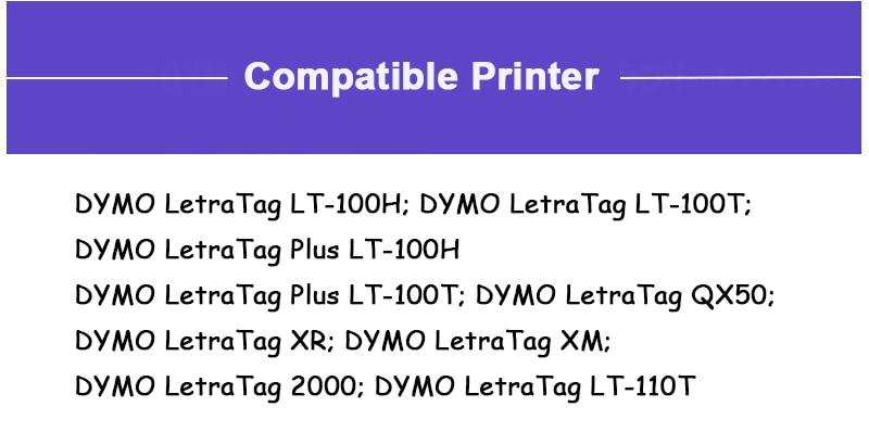 91202 91332 91222 59423 Compatível DYMO LetraTag