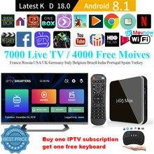 Best IPTV H96 max X2 Android 8.1 tv Box Amlogic S905X2 4GB+32G/64GB Wifi 2.4G&5G USB 3.0 4K H.265 Nice tv IPTV m3u set top box
