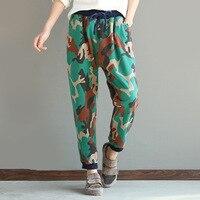 Women Spring Cotton Camouflage Sweatpants Hip-hop Drop Crotch Harem Pants Casual Army Camouflage Female Ladies Trousers 021611