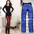 Женщины Зимняя одежда Корейский бархат женские хлопок теплые брюки сшивание утолщение плюс бархат женский карманные леггинсы леди S2804