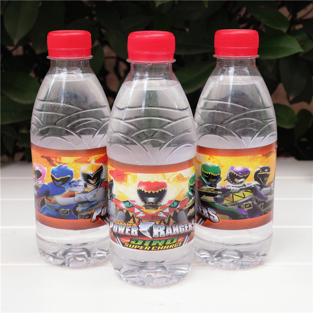 Water Bottle Decoration Interesting 12Pcs Japan Anime Power Rangers Dino Charge Water Bottle Label Design Decoration