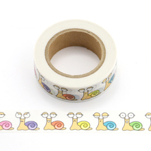 1X Colorful snail decoration washi tape school supply
