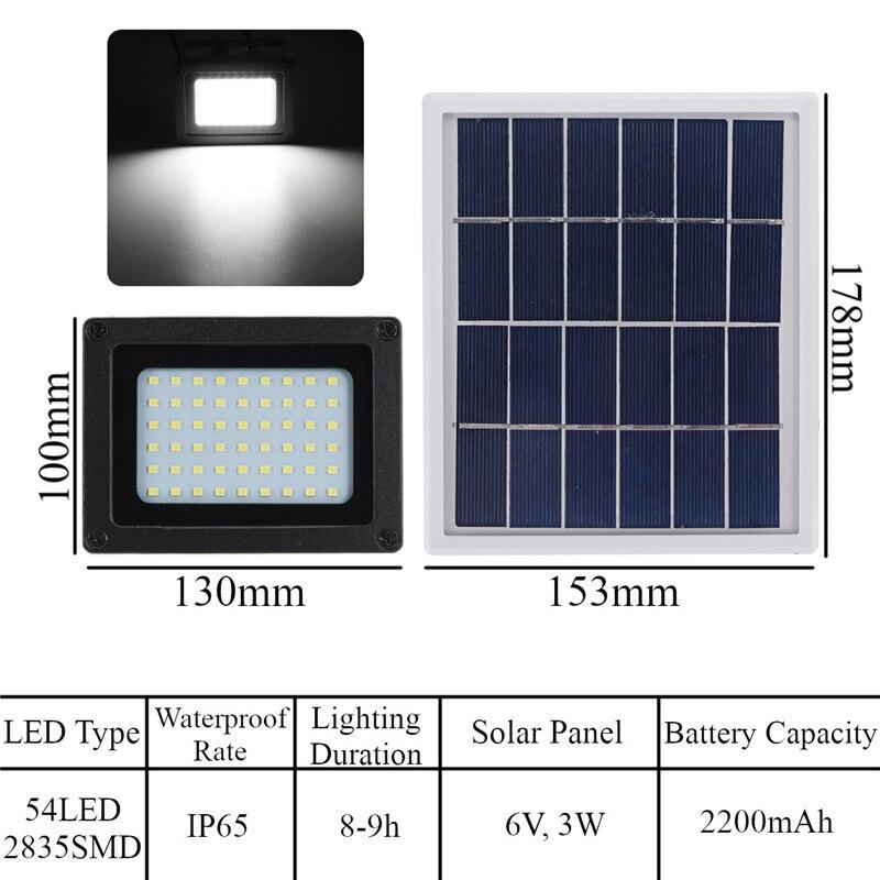 lumens 3 w painel solar ao ar