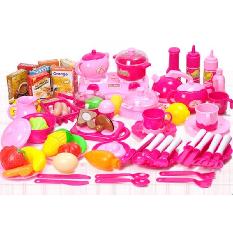 Drôle enfants d'âge préscolaire début jouets éducatifs en plastique coupe légumes bébé cuisine jouets enfants bébé semblant nourriture jeu ensemble