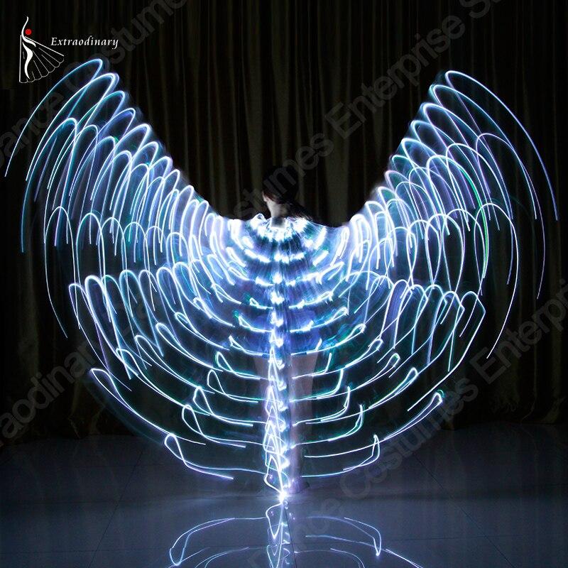 Новые крылья палочки для светодио дный взрослых LED Isis с регулируемым танец живота лампы реквизит 360 градусов аксессуары детей открыть 360 све...