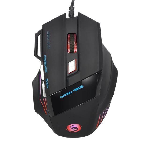 OMESHIN 5500 DPI LED Optical USB Professional Wired Gaming PRO Mouse Mice Gamer Mice 7 Button Mause Muis Computer Mouse Laptop
