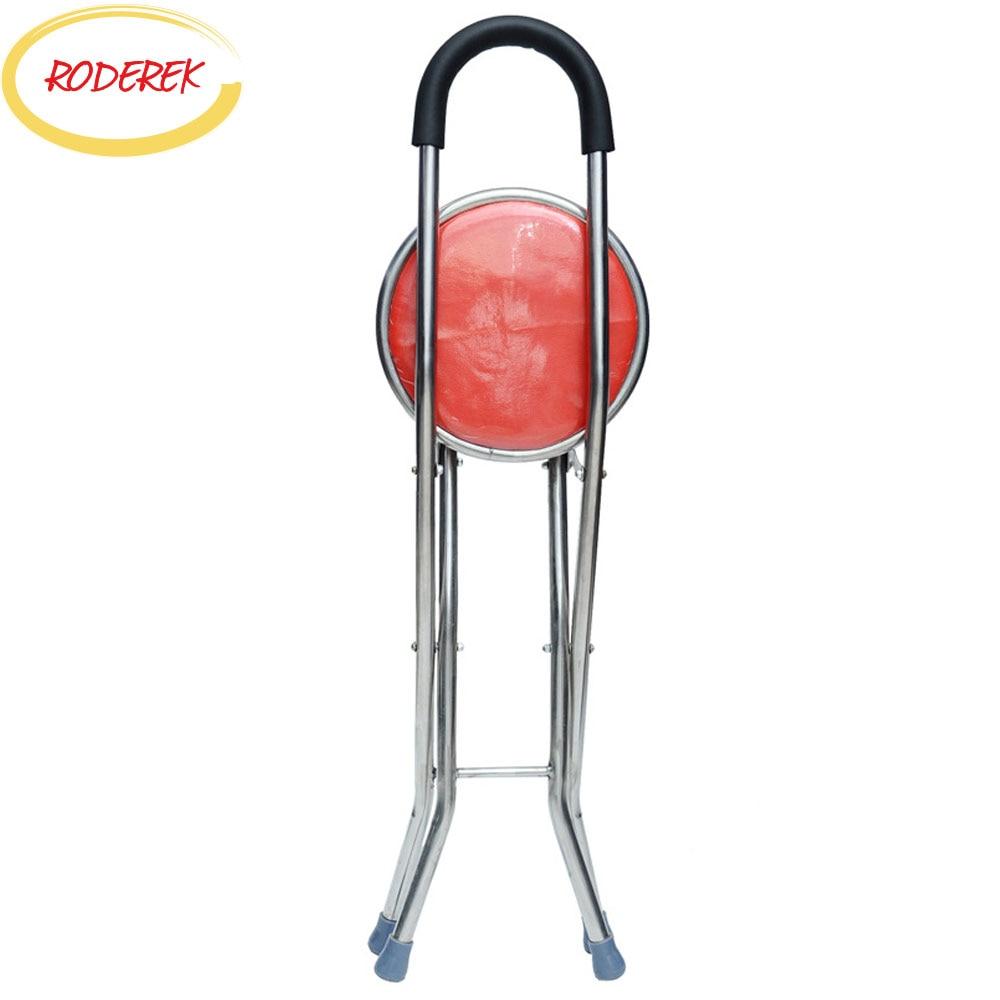 Gesundheitsversorgung Ältere Walking Stick Stuhl Metall Älteren Spaziergang Unterstützung Werkzeuge Mit Stuhl Licht Walking Crunch Tragbare Kette Schönheit & Gesundheit