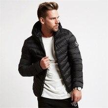 Hip Hop Rock Hooded Men Winter Zipper Cotton Padded Parka Jacket Wadded Smart Casual Male Boy Punk Man Coat Short Outwear Top