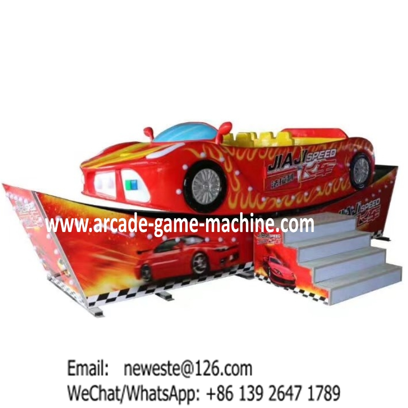 Teenager and Children Amusement Park Equipment Game Machines Red Rotation Car Rides Flying Cars