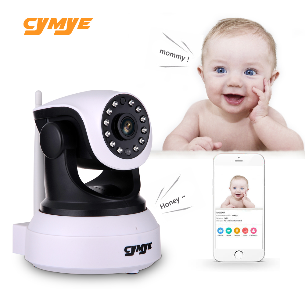 Cymye HD Ip Camera Wireless Wifi Security Camera Video Surveillance Night Network Indoor Baby Monitor C7824WIP