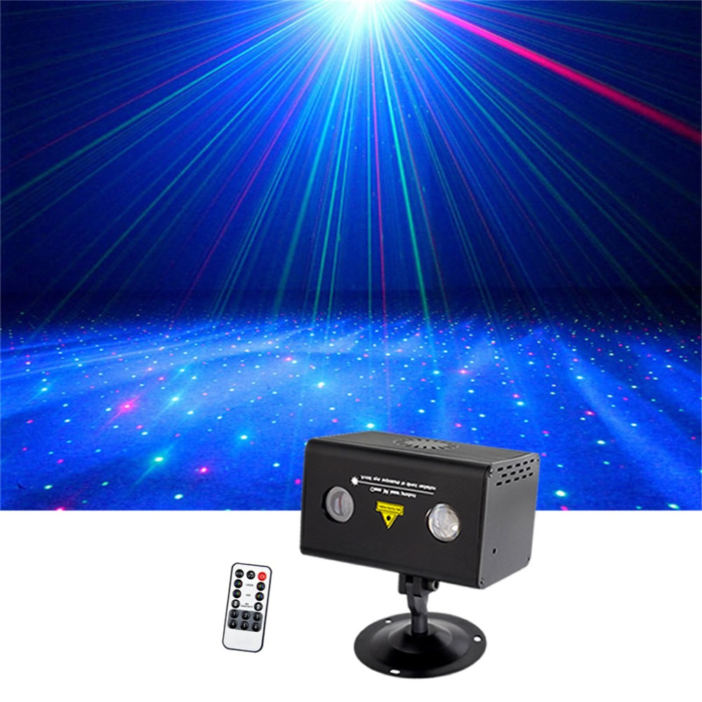 Sharelife Mini Red Green Hypnotic Aurora DJ Remote Control Laser Light Mixed RGB LED Home Gig Party Show Stage Lighting LL-100RGSharelife Mini Red Green Hypnotic Aurora DJ Remote Control Laser Light Mixed RGB LED Home Gig Party Show Stage Lighting LL-100RG