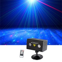 Sharelife Mini Red Green Hypnotic Aurora DJ Remote Control Laser Light Mixed RGB LED Home Gig Party Show Stage Lighting LL 100RG