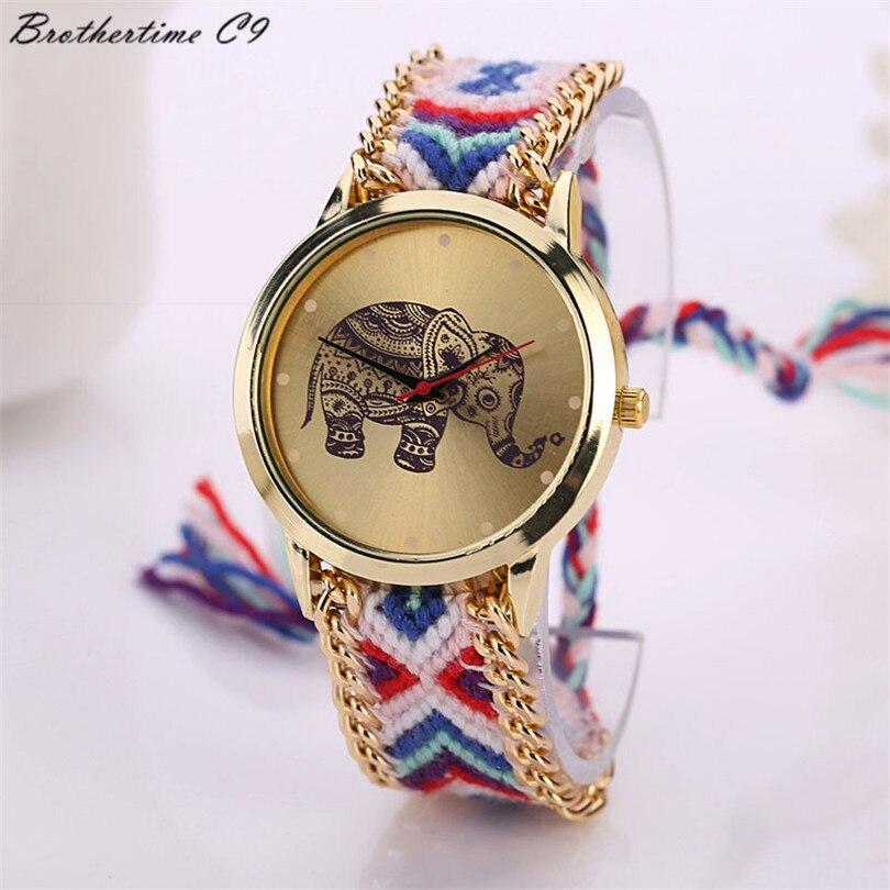 Νέα 2018 Μόδα casual DIY Ελέφαντας μοτίβο - Γυναικεία ρολόγια - Φωτογραφία 3