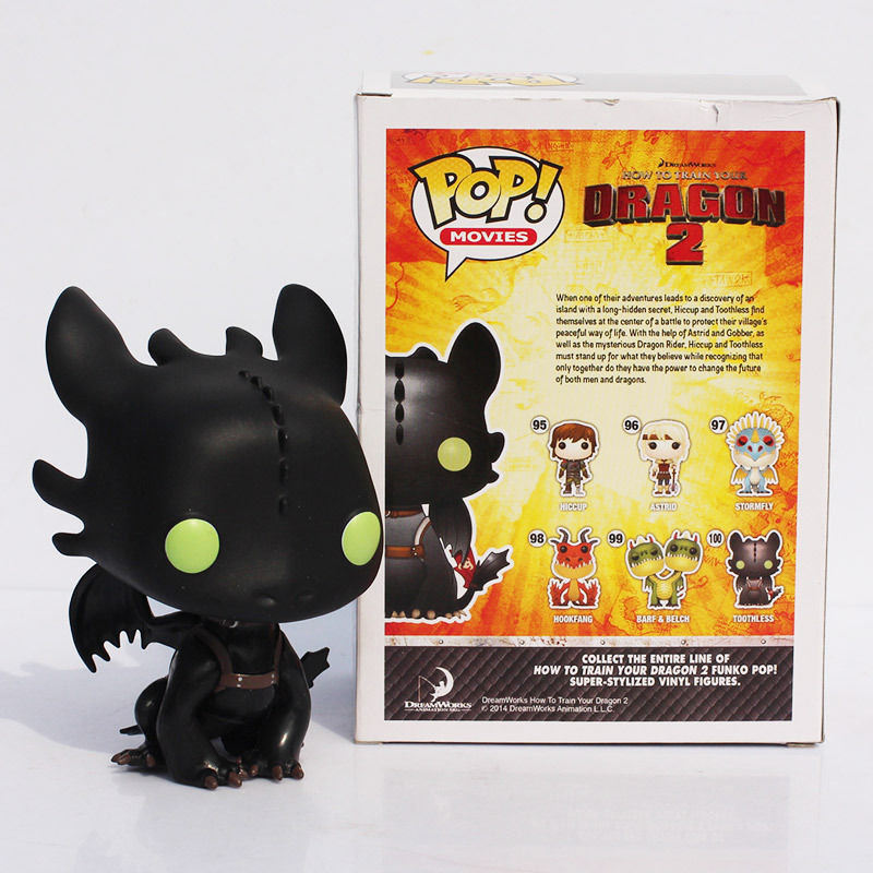 Toothless Action Figure 10cm How To Train Your Dragon 2 Movies Funko Pop