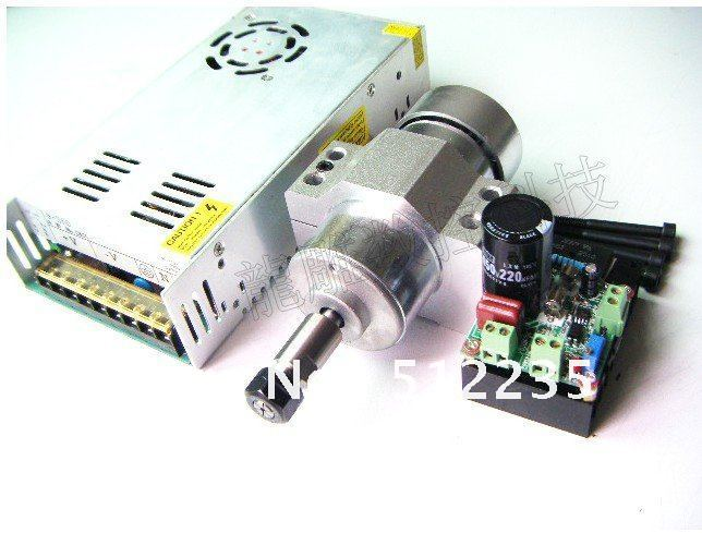 air cooled 300W Spindle Motor 12-48V DC ER11 collect + Mount Braket Holder + Power Supply Mach3 system free shipping 300w air coolded spindle motor 12 48v dc er11 collect 52mm mount bracket fixture for pcb cnc machine