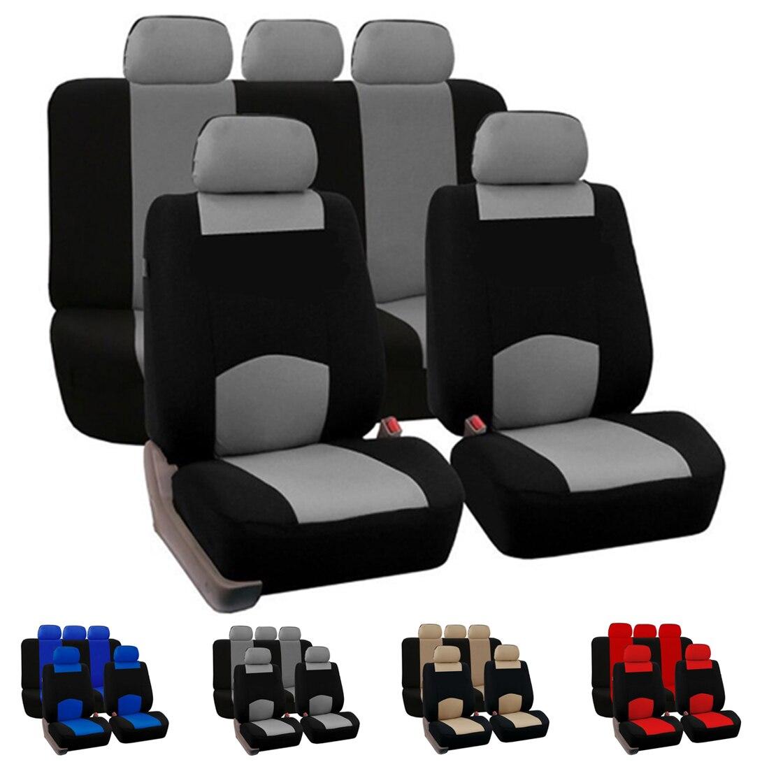 Dewtreetali 4 шт./компл. 9 шт./компл. спереди и сзади сиденье автомобиля включает универсальный сиденье защитник Автокресло Чехлы для VW лада opel audi bmw