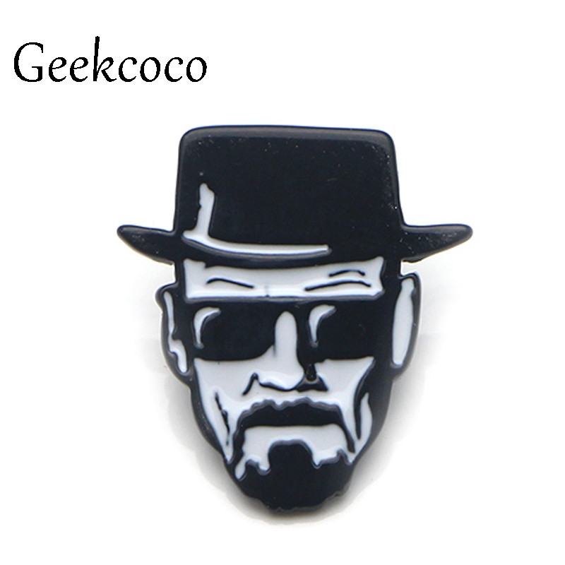Breaking Bad Walter white Punk Zinc Alloy pins backpack pride clothes medal shirt hat insignia badges brooches men women J0071 image