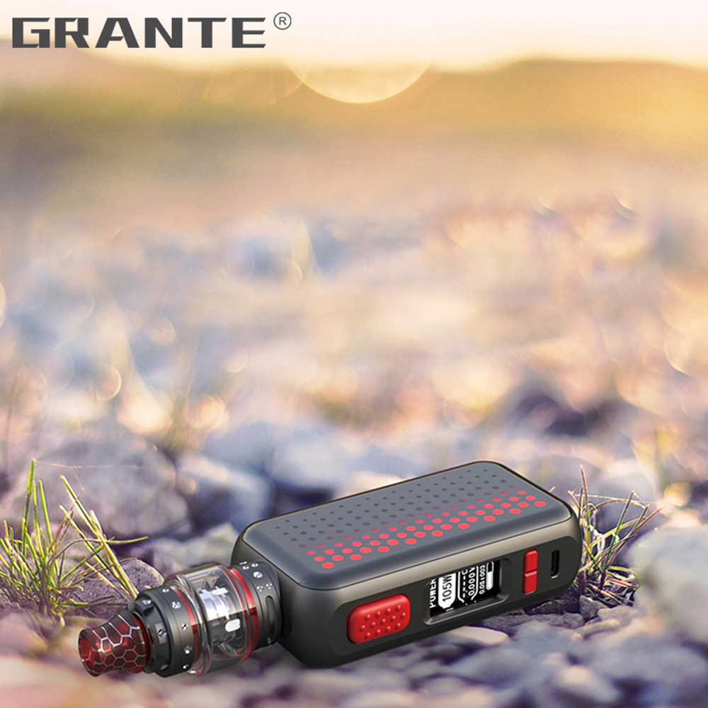 Grante Vape Box Mod Kit 3.5ml Top Filling Atomizer With 0.5 ohm Coil Without 18650 Battery Vape Mod Vaporizer VS SMOK X-Priv Kit7
