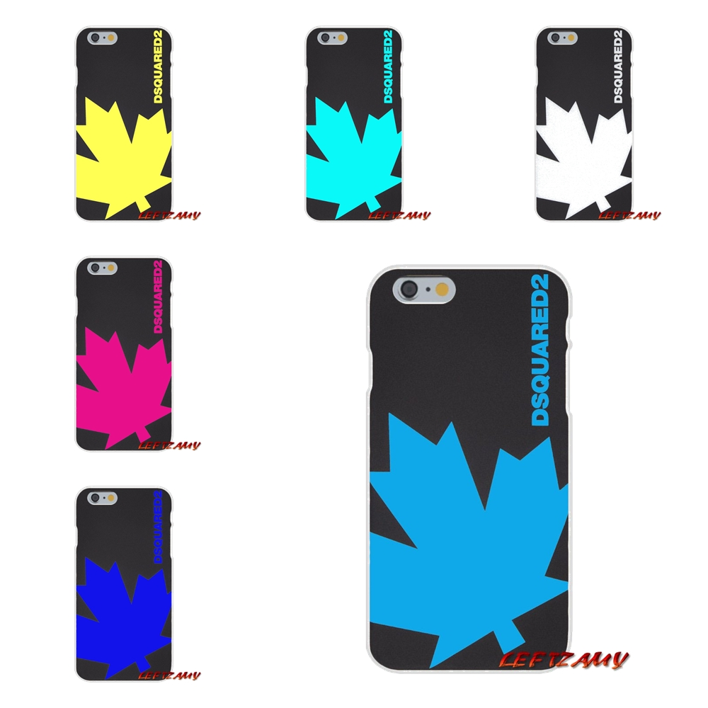 buy online 9a75b 9b385 US $0.99 |Milan Maple Dsquared Ltaly Leaf Brand For iPhone X 4 4S 5 5S 5C  SE 6 6S 7 8 Plus Accessories Phone Shell Covers-in Half-wrapped Case from  ...