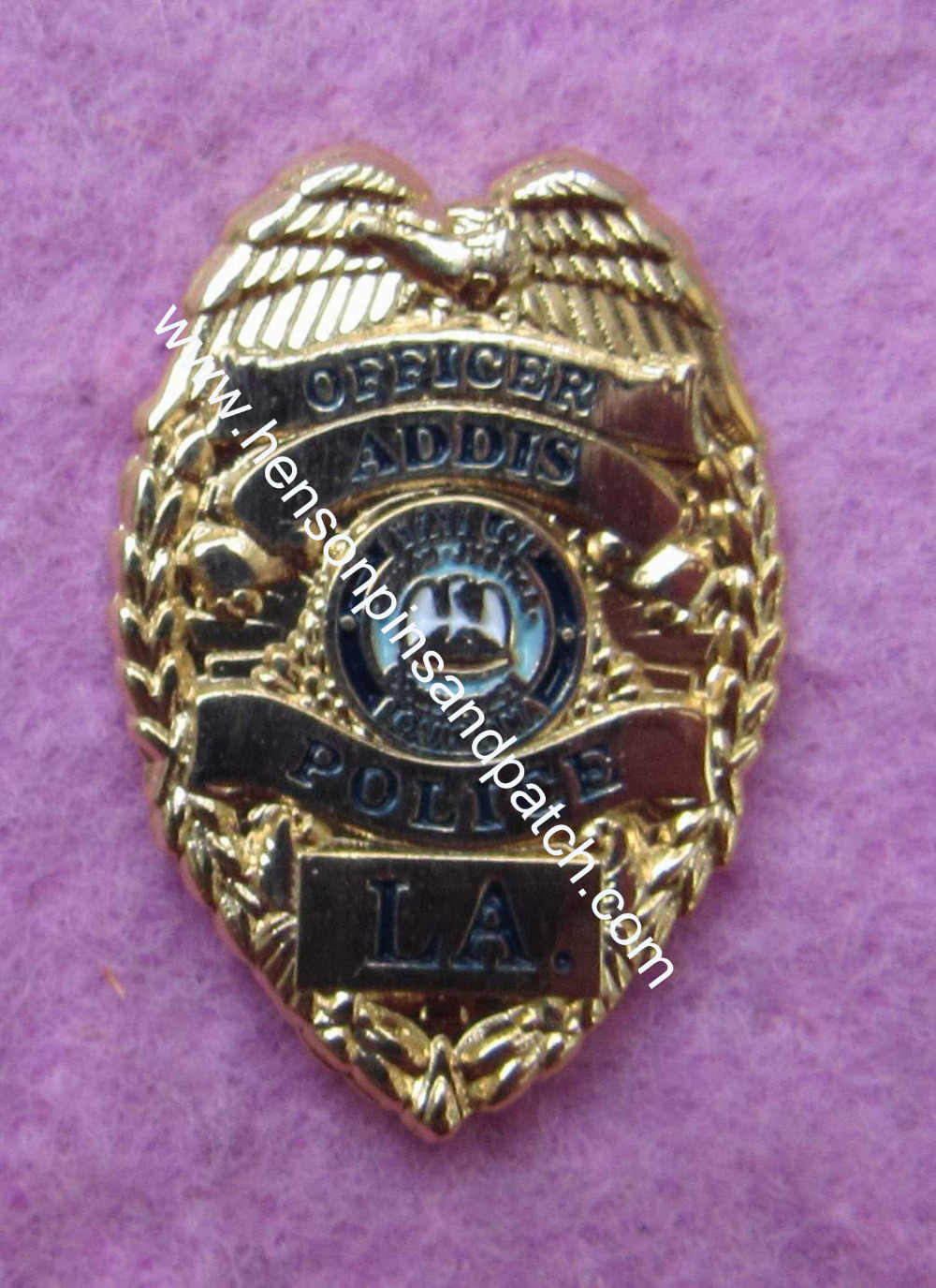 Detail Feedback Questions about Metal badge for OFFICER ADDIS custom