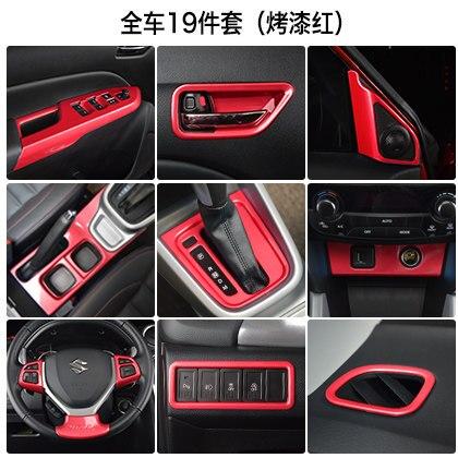 Garniture intérieure de changement de vitesse sortie d'air volant corne interrupteur à l'intérieur accoudoir porte garniture pour 2016 Suzuki Vitara Car styling