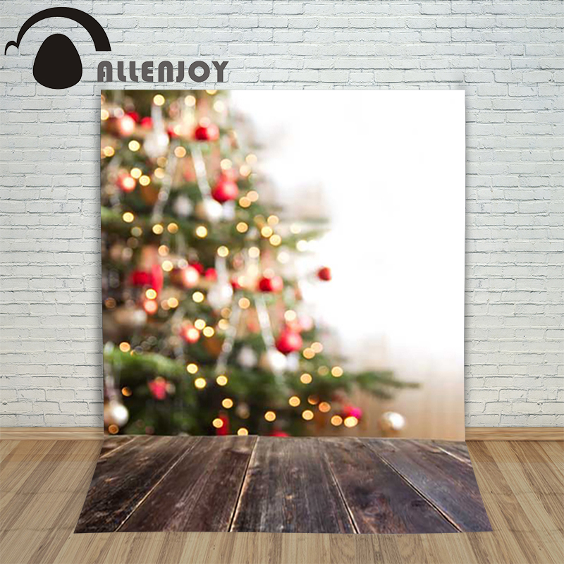 Background photography studio Christmas Wooden xmas tree luster background for photo shoots vinyl photographic holiday lovely