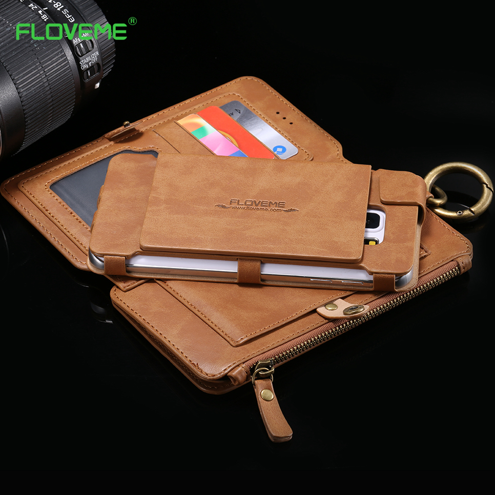 FLOVEME Card Slot Wallet Case For Samsung Note 10 S9 Plus PU Cover For Apple iPhone 11 2019 X XS 5 6 6s 7 8 Plus XR XS MAX Capa in Wallet Cases from Cellphones Telecommunications